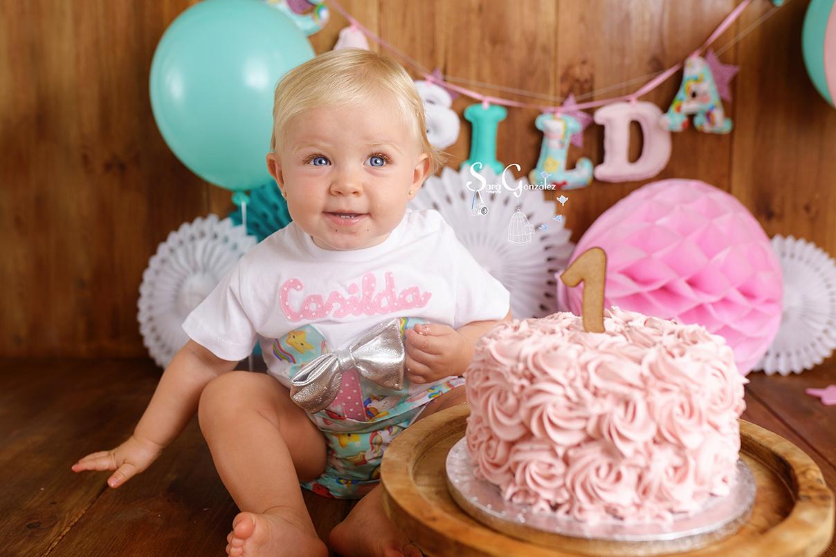 CAKE SMASH SARA GONZALEZ FOTOGRAFIA, OVIEDO, FOTOGRAFIA INFANTIL