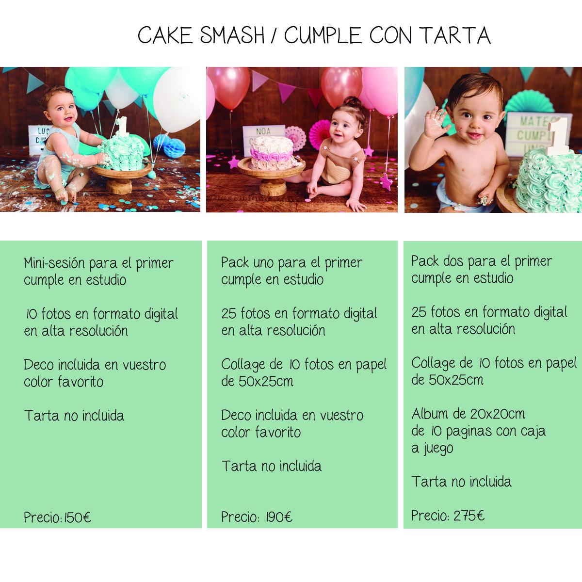 Tarifas cake smash Sara Gonzalez Fotografia
